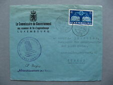 LUXEMBOURG, official cover to Switzerland 1952, 4 Fr  Europe, single franking