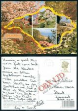 Postcard Isle of Wight Multi Images and Map Unposted 150mm X 100mm
