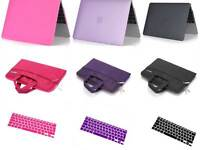 BUNDLE Rubberized HARD Case+KEYBOARD cover+BAG For Apple MacBook Air/Pro/Retina