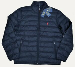 New S M L XL POLO RALPH LAUREN Mens down jacket puffer packable Black coat
