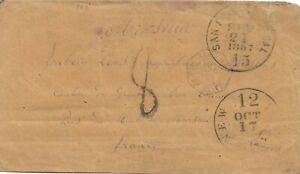 1857 San Francisco to France via New York (Havre Line S.S Fulton)