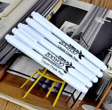 10pcs For Glass Windows Chalkboard Blackboard Marker White Liquid Chalk Pen