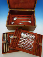 French Sterling Silver Flatware Set by Francois Nicoud Lavallee Service 51 Pcs