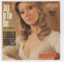 SP 45 TOURS CLODAGH RODGERS JACK IN THE BOX GRAND PRIX EUROVISION 1971 ALLEMAGNE