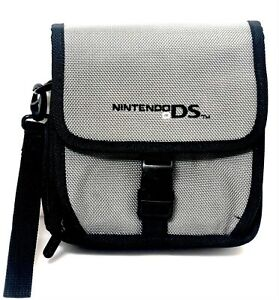 Nintendo DS Carrying Case Travel Bag Black & Gray
