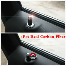 4Pcs Carbon Fiber Interior Dash Door Lock Knob Pins For Auto Car Truck Universal