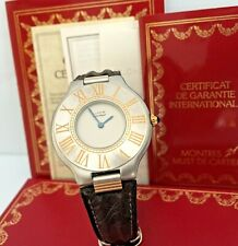 MUST DE CARTIER 21 QUARTZ WATCHES XL 31mm FULL SET
