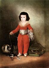 Don Manuel Osorio de zuniga Francisco de Goya enfant jouer animal lin h a3 0405