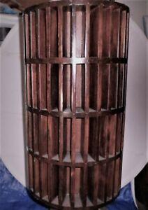 Revolving Mahogany Bookcase Pigeonhole Diary Keepsake Storage Rack Ornate Inlay