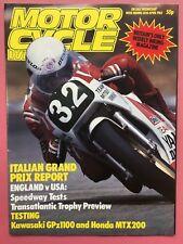 Motocicleta Semanal - 30º ABRIL 1983 - Italiano GRAN PREMIO Report - REVISTA