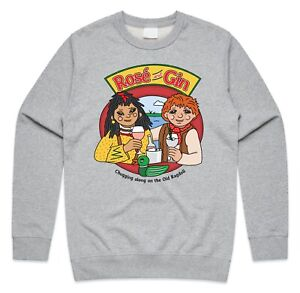 Rosé And Gin Jumper Sweatshirt Funny 90's Rosie and Jim TV Show Homage Gift