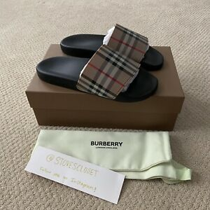 NEW Burberry Furley Vintage Check Slide Sandals | Sizes 42 43 44