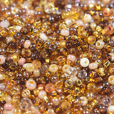 """Czech Glass Seed Beads Size 10/0 """" MIX AUTUMN NIGHT """" Loose 50 Grams"""