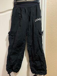 Zumba Large Black Workout Cargo Pants USED
