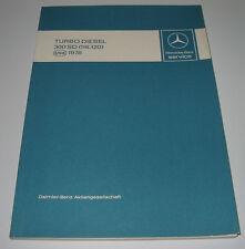 Werkstatthandbuch Mercedes S-Klasse W 116 Turbo Diesel 300 SD US USA Mai 1978!