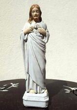 Statue Sacré Coeur de Jesus 15 cm incassable extérieur intérieur  beige