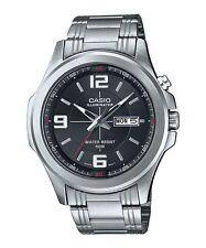 Casio MTP-E202D-1A Men's Illuminator Stainless Steel Dress Watch Black Dial 50M