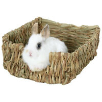 Woven Grass Small Pet Rabbit Hamster Guinea Pig Cage Nest House Chew Toy Bed 1Pc