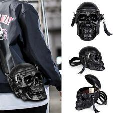 Unisex Gothic Punk Skull Head Shoulder Messenger Bag Crossbody Handbag Steampunk