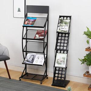 Magazine Literature Display Rack Office Store Brochure Leaflet Shelf Metal Stand