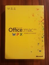 NEW Microsoft Office Mac Home and Student 2011 Family Pack 3 Macs SEALED BOX