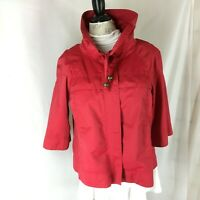 New Directions Sporty Red Jacket size XL Zip up 3/4 sleeves