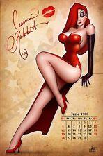 Nathan Szerdy SIGNED Art Print ~ Jessica Rabbit Calendar Girl / Who Framed Roger