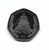 Coin Gibraltar Christmas 50p Year 2016 Xmas Tree Fifty Pence UNC Rare Coins