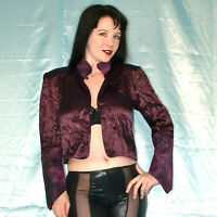 lila weiches BOLERO Top* M (40-42) * Satin BLUSE* Shirt* Hemd, Oberteil, Blouson