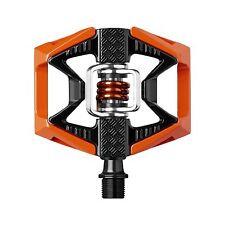 Crank Brothers Double Shot 2 Bike Pedals - Orange / Black Spring -- NEW