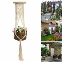 102cm Vintage Macrame Pflanze Aufhänger Blumentopf Halter Schnur Hänge Seil