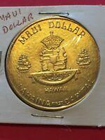 Coin, Maui Dollar Hawaii, The Valley Isle Vintage Token Coin  P7