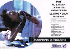 PUBLICITE ADVERTISING 055  1988  FRANCE TELECOM ( 2p) le téléphone fil de la vie