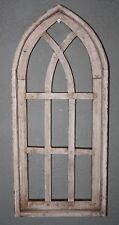 "Wooden Antique Style Church WINDOW Frame Primitive Wood Gothic 22 1/2"" Shabby"