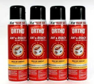 4 Ortho Ant and Roach Killer 18oz Value Size Kills By Contact Spray Aerosol Can
