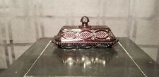 """Avon """"Cape Cod - Ruby Red"""" Covered Butter Dish"""