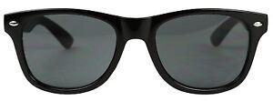 ShadyVEU Retro Rectangular Classic Rock Black Frame Dark Lens Kids Sunglasses