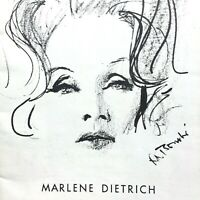 1968 MARLENE DIETRICH one woman show PLAYBILL National Magazine for Theatregoers