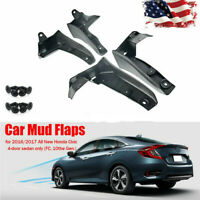 4pcs Splash Mud Guards Flaps Fender Flares For Honda Civic 16-18  From US