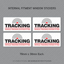 4 x Tracking Vehicle GPS Tracker System Fitted Car Window Sticker - SKU-UV3069