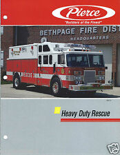 Fire Equipment Brochure - Pierce - Heavy Duty Rescue - 2 items - c1990 (DB231)