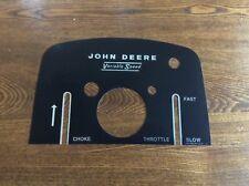 Rare Old John Deere 110,112 Dash Decal
