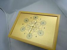 Metatron'S CUBE Orologio da Parete, Fiore della vita all'interno esterno sfere, silenzioso non-Tick