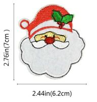 Santa Christmas Patch Claus Xmas Embroidered Iron Sew On Applique Badge Motif