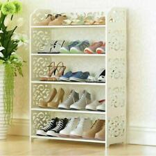Shoe Rack Shabby Chic Display Cabinet Bathroom Organiser 5 Tiers Hallway Shelve