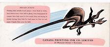 Ink Blotter ; Toronto, Canada , 1940s ; Canada Printing Ink Co., Kangaroo