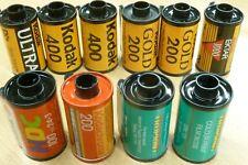 10x 35mm EXPOSED FILMS Kodak 400 1000 Ektar Kodachrome Agfa HDC Truprint bundle