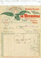 Paris XI ème 17 Rue St Maur- Exceptionnelle Entête Cycles Motos Automobiles 1901
