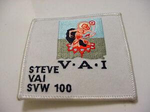 "LOT OF 3 VINTAGE STEVE VIA  - SVW 100 EMBROIDERED 90'S ROCK-IRON ON PATCH- 3""X3"""