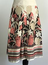Ann Taylor  Skirt Floral Pleated Womens Size 10